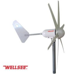 WELLSEE+WS-WT300W+300W+6+leaves+Wind+Turbine+horizontal+axis+Aerogenerator+Horizontal+axis+Chinese+wind+generator