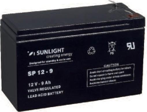 Μπαταρία Sun Light SP12-9.0Ah AGM κλειστού τύπου
