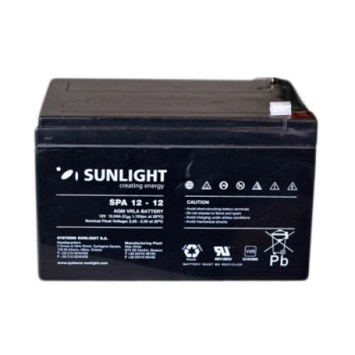 Μπαταρία Sun Light SP12-12Ah AGM κλειστού τύπου