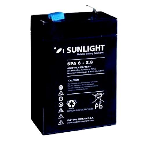 Μπαταρία Sun Light SPA6-2.8Ah AGM κλειστού τύπου