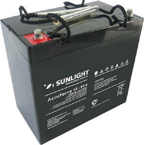 Μπαταρία Φωτοβολταϊκών SunLight AccuForce 12V – 55S Ah AGM κλειστού τύπου