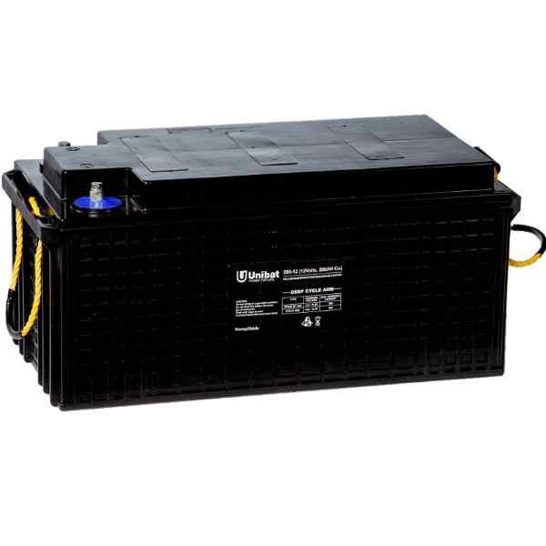 Μπαταρία Βαθιάς Εκφόρτισης Unibat AGM 12-200DC C120 250Ah 12V