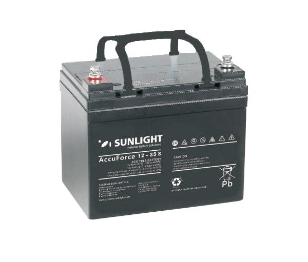 Μπαταρία AGM SUNLIGHT Accuforce Solar 12-35S  12V, 33Ah/C10 ,36Ah/C120