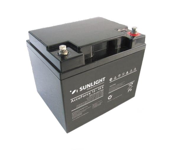 Μπαταρία AGM SUNLIGHT Accuforce Solar 12-45S (12V, 40Ah/C10, 44,4Ah/C120)
