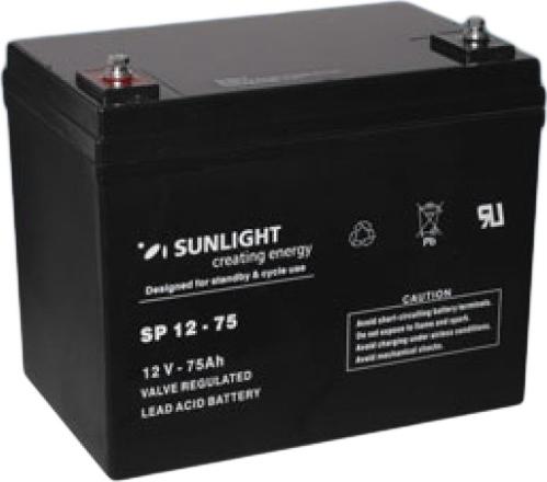 Μπαταρία Sunlight SPB12-75 VRLA – AGM 12V 75Ah