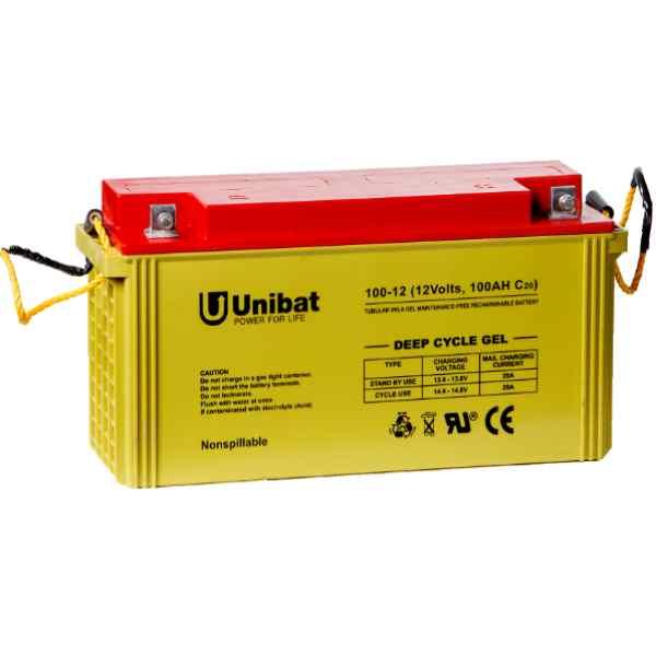 Μπαταρία Βαθειάς Εκφόρτισης Unibat GEL 12-100G C120 130Ah 12V
