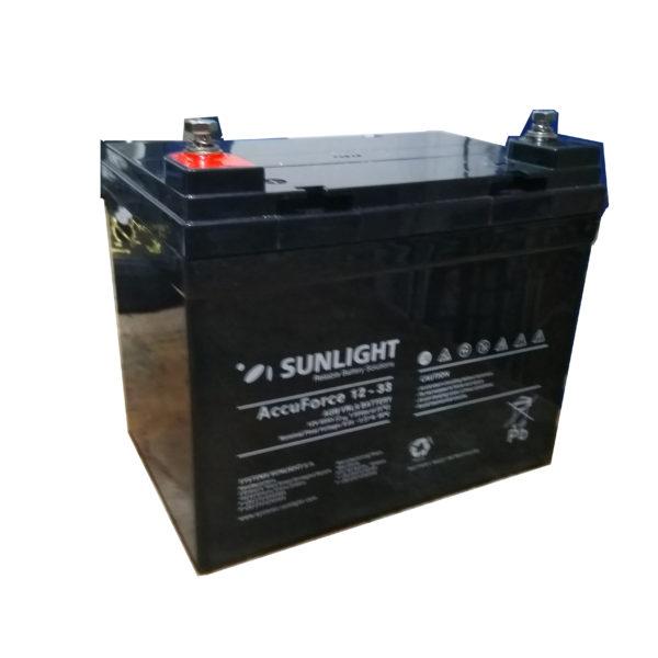 Μπαταρία Φωτοβολταϊκών SunLight AccuForce 12V – 33Ah AGM κλειστού τύπου
