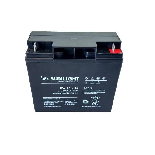Μπαταρία SunLight SPA 18Ah  12V AGM κλειστού τύπου
