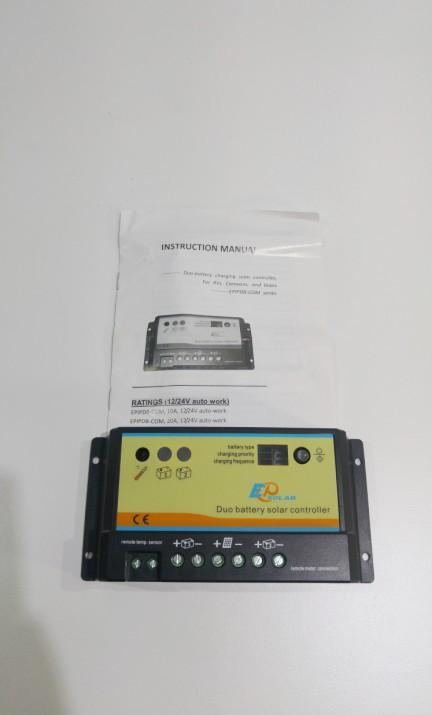 Ρυθμιστής φόρτισης φωτοβολταϊκών PWM Ep Solar EPIPDB – COM 10A