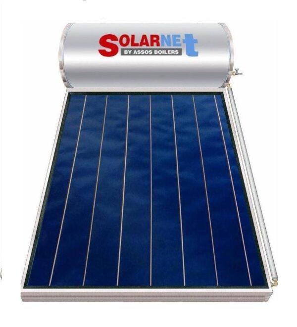 Assos Solarnet SOL 200/2,5m² Glass Επιλεκτικός Συλλέκτης Tιτανίου Τριπλής Ενέργειας