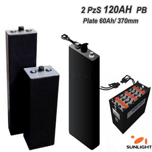 Μπαταρίες έλξεως βαθειάς εκφόρτισης τύπου (Traction) SunLight 2V 2PzS 120Ah