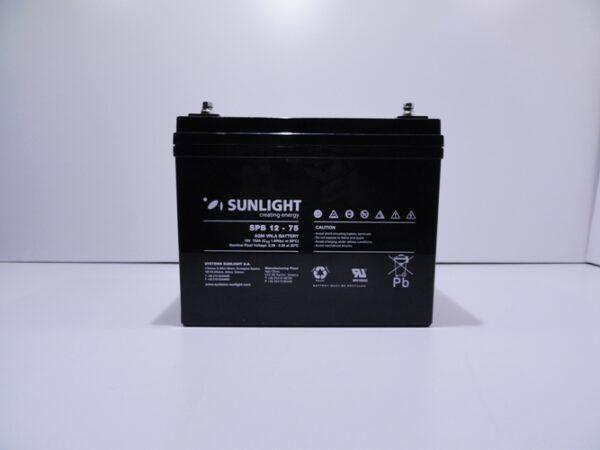 Μπαταρία Φωτοβολταϊκών SunLight AccuForce 12V – 75Ah AGM κλειστού τύπου
