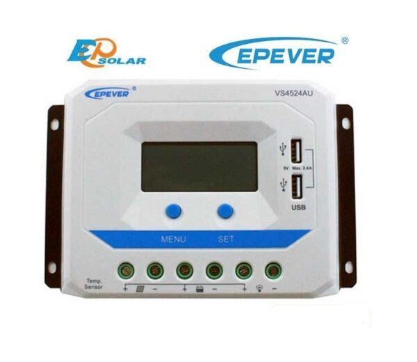 Ρυθμιστής φόρτισης φωτοβολταϊκών PWM Epsolar Tracer VS2024AU 20A