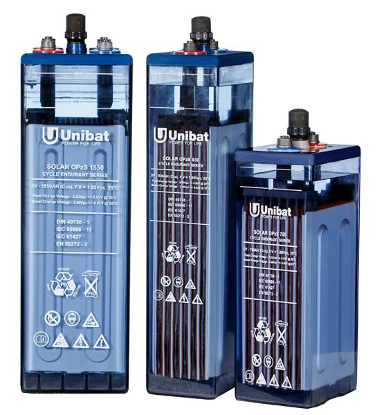 Μπαταρία Φωτοβολταϊκών βαθειάς εκφόρτισης με υγρά UNIBAT SOLAR OPzS 650