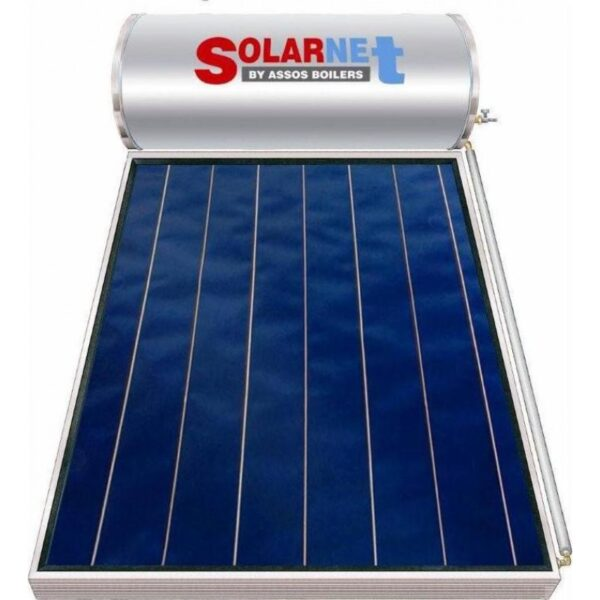 Assos Solarnet SOL 120/2m² Glass Επιλεκτικός Συλλέκτης Tιτανίου Τριπλής Ενέργειας