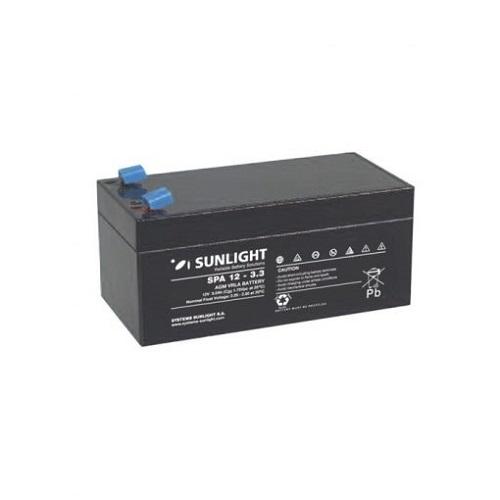Μπαταρία  SunLight SPA 12V 3.3Ah AGM κλειστού τύπου