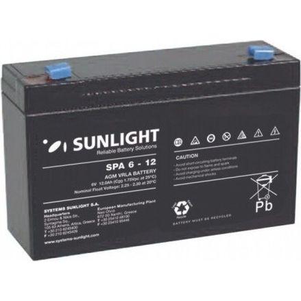 Μπαταρία SunLight SPA 6V-12 Ah AGM κλειστού τύπου