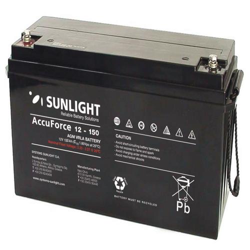 Μπαταρία Φωτοβολταϊκών SunLight AccuForce 12V - 150Ah  AGM κλειστού τύπου