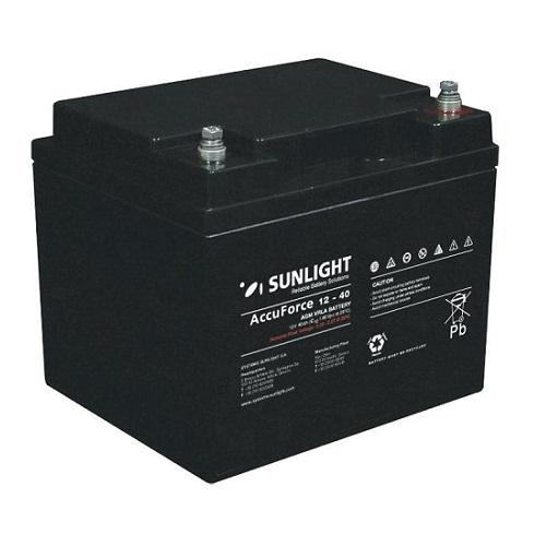 Μπαταρία Φωτοβολταϊκών SunLight AccuForce 12V - 40 Ah  AGM κλειστού τύπου