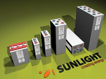 Μπαταρία Φωτοβολταϊκών βαθειάς εκφόρτισης κλειστού τύπου Gel SunLight 2V RES OPzV 290Ah/C120