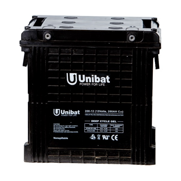 Μπαταρία Βαθειάς Εκφόρτισης Unibat GEL 12-200G C120 260Ah 12V