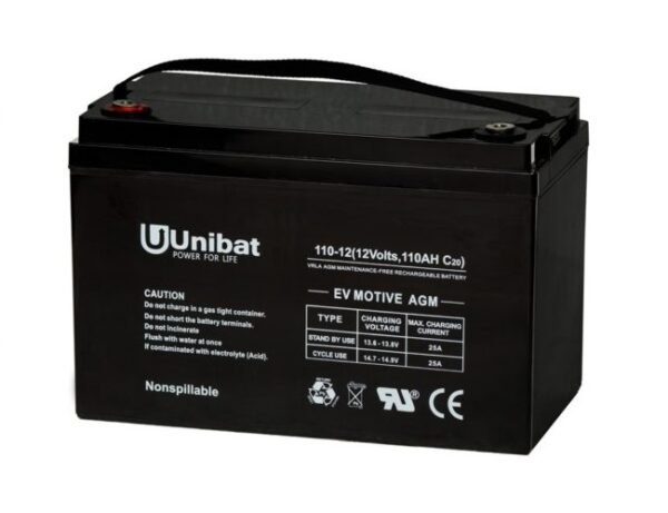 Μπαταρία (AGM-EV) UNIBATPOWER FOR LIFE 12V 110AH