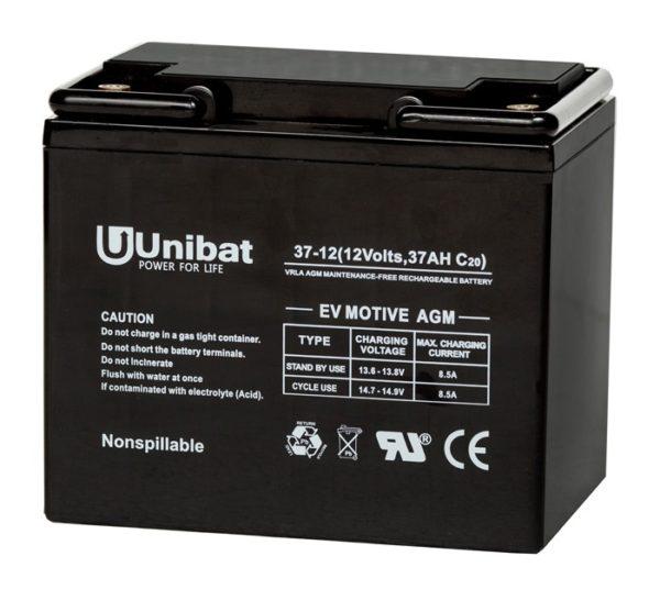 Μπαταρία (AGM-EV MOTIVE) UNIBATPOWER FOR LIFE 12V 14AH