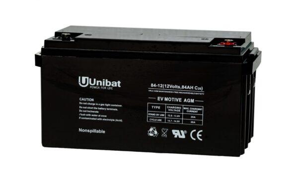 Μπαταρία (AGM-EV MOTIVE) UNIBATPOWER FOR LIFE 12V 84AH