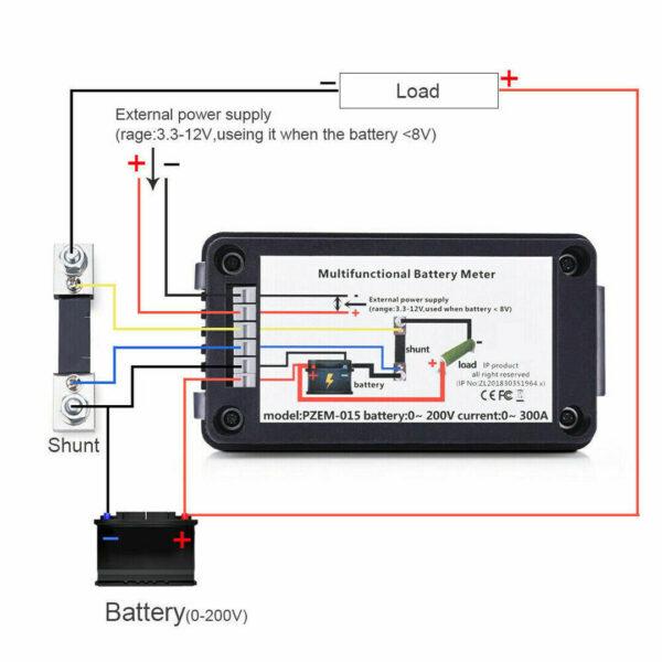 DC100A-FL DIGITAL MONITOR LCD WATTMETER/ DC AMPERMETER / ANALYZER